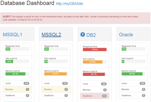 Database Dashboard Mock-up 2
