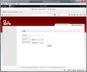 Enter the Railo Administrator Password