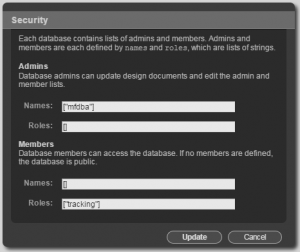 Tracking Database User Security